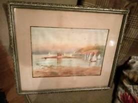 Painting gilt framed old £10