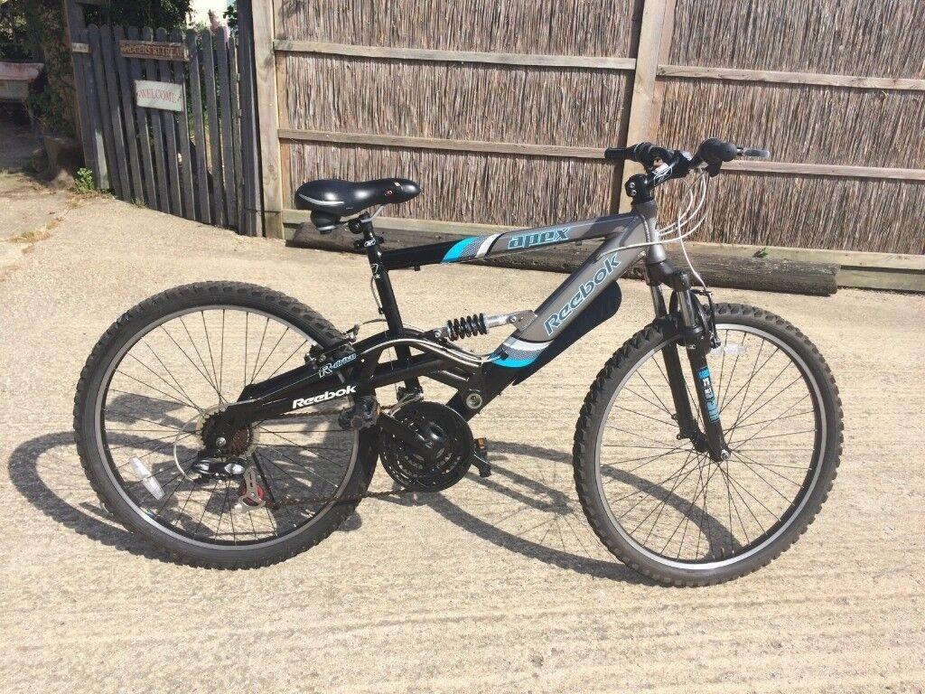 0950e3da9a4 REEBOK APEX Mountain Bike 21 Gears Suspension Silver V.Good Condition 18