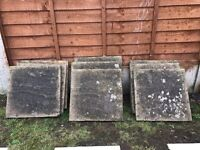 9 x Grey paving slabs for sale