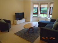 Spacious two bed apartment with parking close to Stockbridge (short term lets only 1 - 3 months)