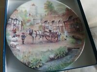 Royal Worcester 'Fresh as the Morning Dew' ornamental plate