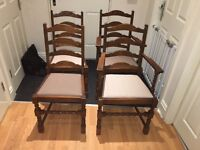 4 Jaycee Ladderback Dining Chairs. Reasonable offers welcome.