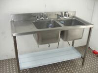 CATERING DOUBLE BOWL SINK
