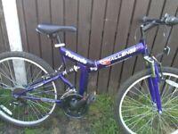 Lady's full suspension fold bike good as new