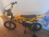 Kids scrambler pedal bike