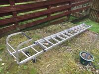 Extendable roof ladder for sale