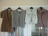 Bundle of 3 Cardigans and a Denim Waistcoat - Size 6 Petite and Size 8