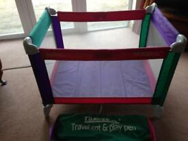 Child's Travel cot /play pen