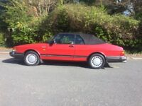 Lovely SAAB 900 full pressure turbo convertible classic 1988 Cherry Red