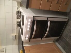 Curry's white 50cm wide freestanding electric cooker SOLD