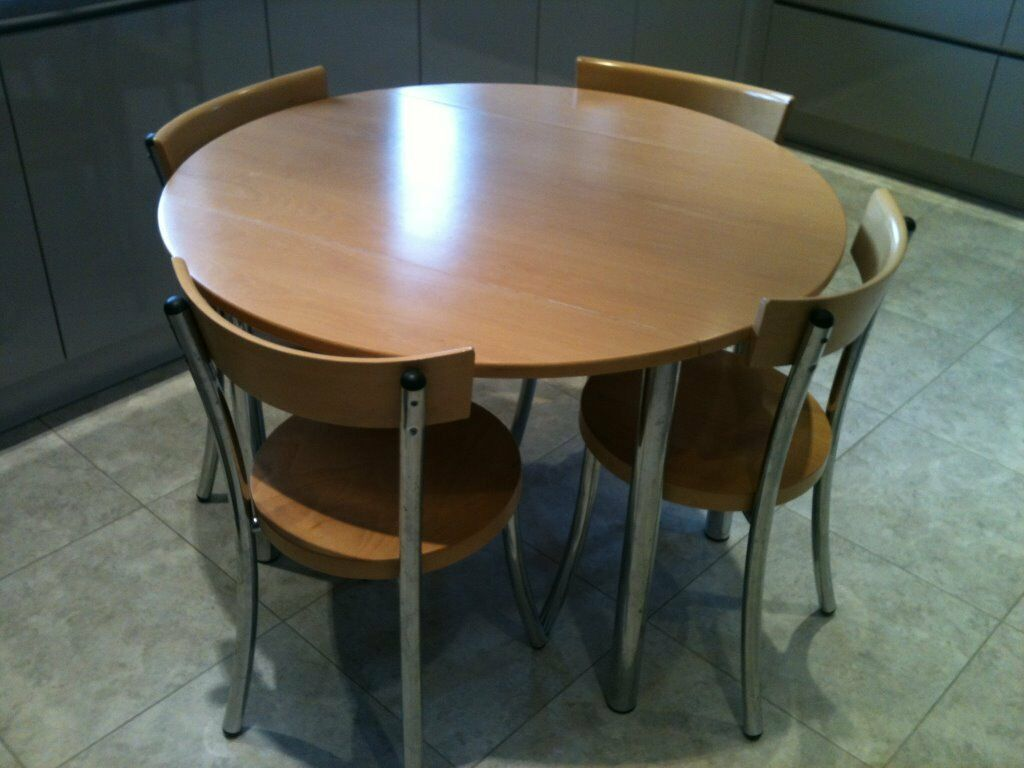 John lewis wooden kitchen table and 4 chairs extendable for Kitchen table and 4 chairs
