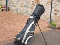 Golf Clubs with Trolley and Stand. Ideal for beginner, hardly used.