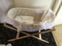 Baby moses basket no mattress included. With m&p stand basket,