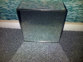 Small stainless steel cabinet with mirror door