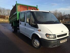 Transit crew cab tipper ready to go 8 month test