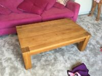 Solid Oak Coffee Table (From Beales)
