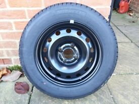 Wheel with tyre for Citroen C3 (2007) both unused