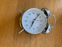 Alarm clocks - white and silver - sold together or separately