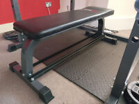 Bodymax CF302 Flat Bench with Dumbbell Rack - Retail price 70gbp