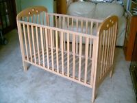 """Mothercare """"Playbead"""" beech cot"""