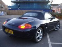 !!! PORSCHE BOXSTER 2.5 MANUAL CONVERTIBLE/CABRIOLET/COUPE SPORTS CAR !!! RED LEATHER INTERIOR !!!