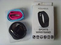 AQUARIUS Sports Black Wristband