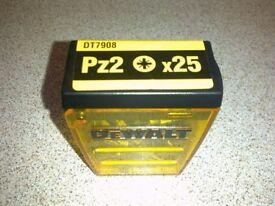 De Walt screwdriver drill bits pack