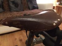 Brooke's of England B-17 brown leather bicycle saddle with or without truvativ 30mm post