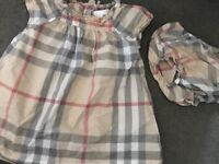 Baby girl Burberry dress and pants size 18 months