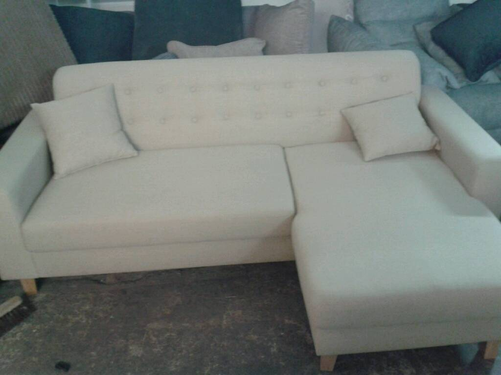 New astra chases sofa in natural colour huge savings only £ 175
