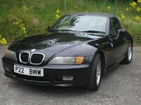 BMW Z3 1.9 BLACK Z3 ROADSTER CONVERTIBLE 1998 138 BHP PRIVATE BMW PLATE