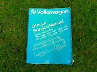 Volkswagen Campervan Official Service Manual