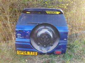 Toyota RAV 4 RAV4 boot rear tail door spoiler cover spares 2004 3 door parts blue navy