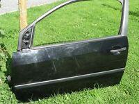 Door - Panther Black, Nearside LHS Glass Window (Passenger) for 3 Door Fiesta 2002-2008 Mk5 Mk6 Mk7