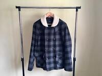 Men's Lot - Item 2 - Stanley Adams grey & black wool winter coat / jacket, large