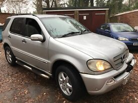Mercedes ML 270 CDI Inspiration 2688cc Turbo Diesel Automatic 4x4 Estate 04 Plate 06/04/2004 Silver