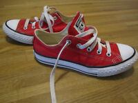 Red Converse Shoes, for kids, UK Size 13