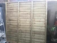 Unused fence panel