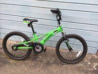 Childrens 20 inch Nitro green bike in VGC