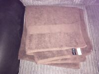 M&S Autograph Extra Large Bath Towels Chocolate/Brown