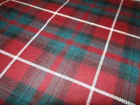 *CHARITY SALE* Pure new Wool Fabric-- BRAND NEW, exclusive quality-- perfect for a plaid for settee