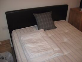 Double Bed - Brown (dark) Faux Leather double bed
