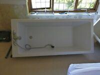 Bath & surround complete with mixer taps & shower head