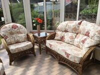 Conservatory furniture - Sofa, 2 chairs, table & footstool