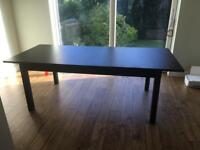 Dining table- seats up to 8 when extended