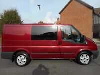 FINANCE ME!! NO VAT!! 2012 6 Seat Crew Van with 95k .Full service history in Pepper Red.