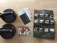 Push up rotating plates / bar - Brand new with box and workout/CD