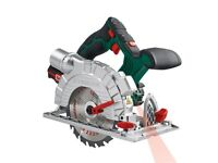 Steel 20V Li-Ion Cordless Circular Cut Mitre Saw Power Tool Woodworking Blade Workshop Joinery