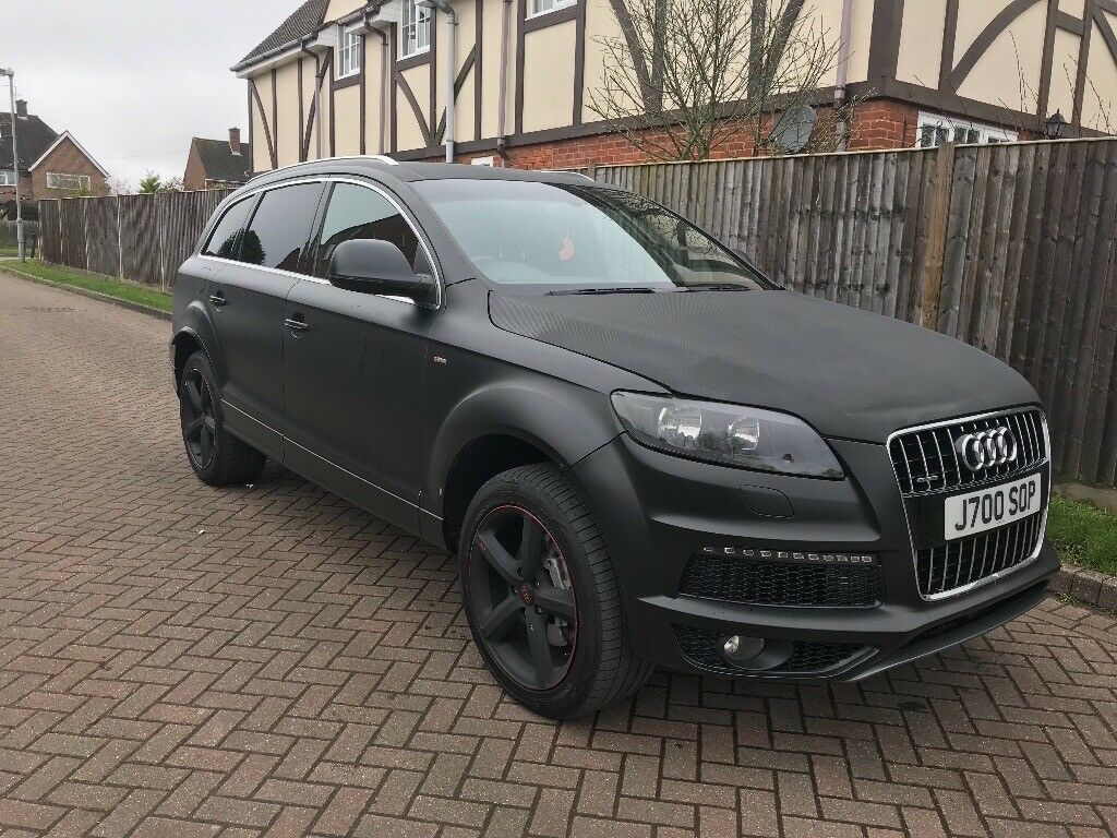 audi q7 s line matte black low miles fash in hemel. Black Bedroom Furniture Sets. Home Design Ideas