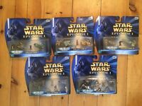 Collectible Official Star War Episode 1 Micro Machines – 5 Sets - Brand New In Box